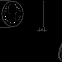 Schlüsselrosette rund 51mm - matt-schwarz