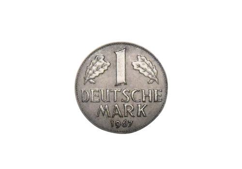 """Keramik Möbelknopf """"1 Deutsche Mark"""""""