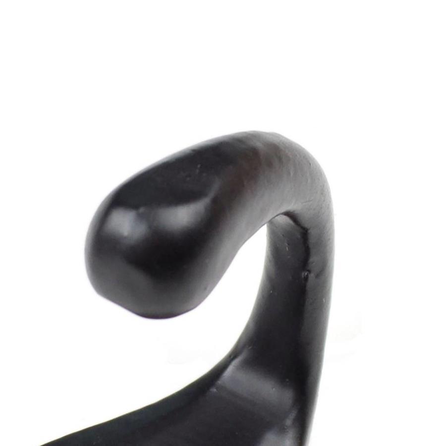 Gusseisen Kleiderhaken einzeln antik - schwarz
