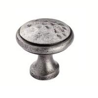 Gusseisen Möbelknopf 30mm - Zinn-Effekt