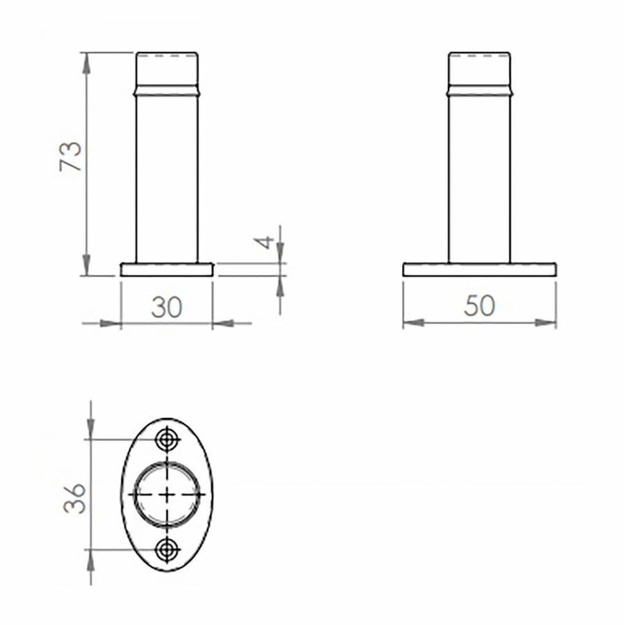 Türstopper 73mm - schwarz