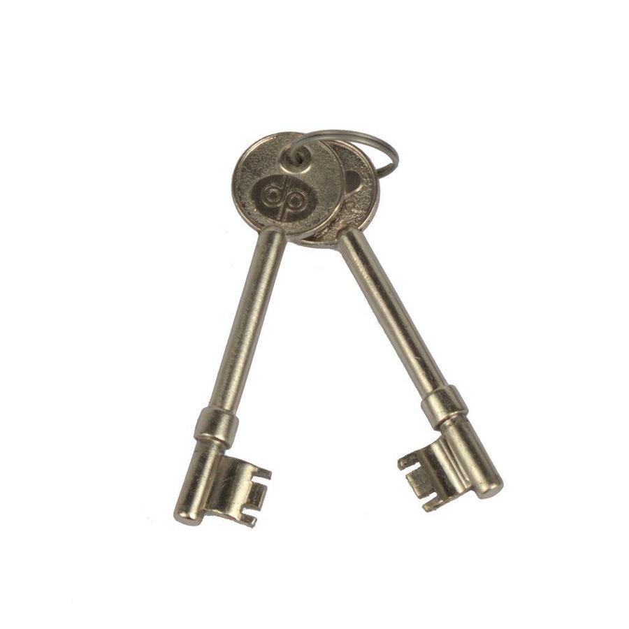 Einsteckschloss mit Schlüssel - schwarz