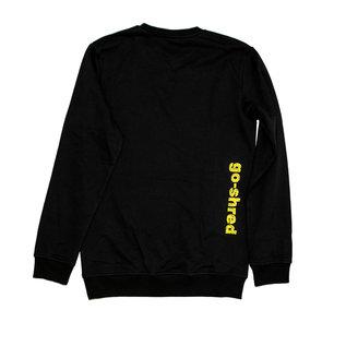 go-shred Clothing go-shred Sweater (Schwarz & Geld)