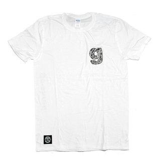 """go-shred Clothing go-shred T-Shirt """"g"""" Logo (Weiss)"""