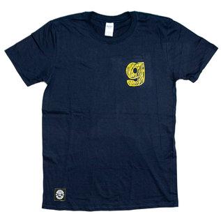 """go-shred Clothing go-shred T-Shirt""""g"""" Logo (Blau)"""