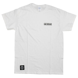 go-shred Clothing go-shred T-Shirt Small Logo (Weiss)