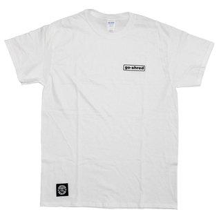 go-shred Clothing go-shred T-Shirt Small Logo (Weiss)