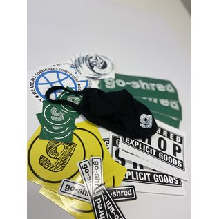 go-shred FaceMask + StickerPack