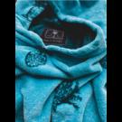 YUCCA SURF Poncho Towel BLUE ANANAS