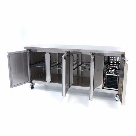 Maxima Kühltisch - 314 l - -2 bis 10 °C - mit 3 Türen - 350 Watt