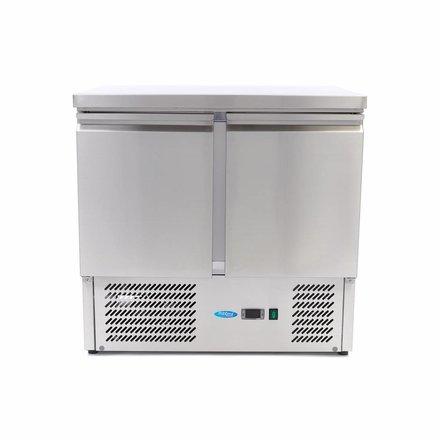 Maxima Kühltisch - 5 x 1/6 - 0 bis 10 °C - mit 2 Türen - 230 Watt