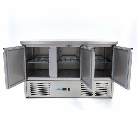 Maxima Koelwerkbank - 3 Deuren - 137cm - 400 Liter - RVS