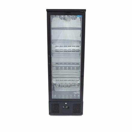 Maxima Barkühlschrank Flaschenkühler - Schwarz - 292 l - 0 bis 12 °C - mit 1 Drehtür- 253 Watt