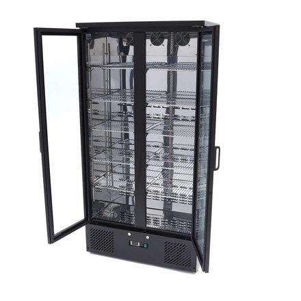 Maxima Barkühlschrank Flaschenkühler - Schwarz - 466 l - 0 bis 12 °C - mit 2 Drehtüren - 418 Watt