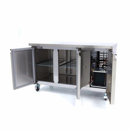 Maxima Tiefkühltisch - 1360 x 700 mm tief - -20 bis -10 °C - mit 2 Türen - 390 Watt