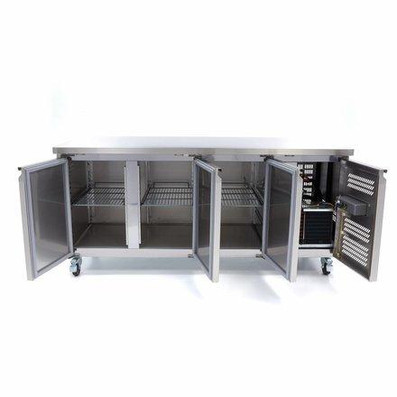 Maxima Tiefkühltisch - 1795 x 700 mm tief - -20 bis -10 °C - mit 3 Türen - 430 Watt