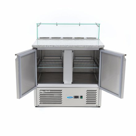 Maxima Refrigerated Pizza Table Glass 2