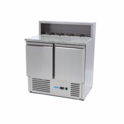 Maxima Pizzawerkbank / Pizzatafel / Pizza Saladette - 2 Deuren - RVS