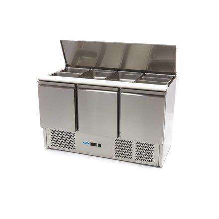 Maxima Saladette - Gekühlt - 400 l - 0 bis 10 °C - mit 3 Türen - 230 Watt