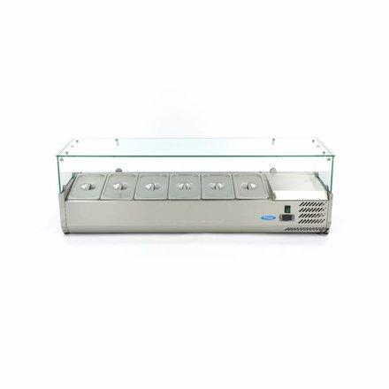Maxima Opzetkoelvitrine / Gekoelde Opzetvitrine 140 cm - 1/3 GN