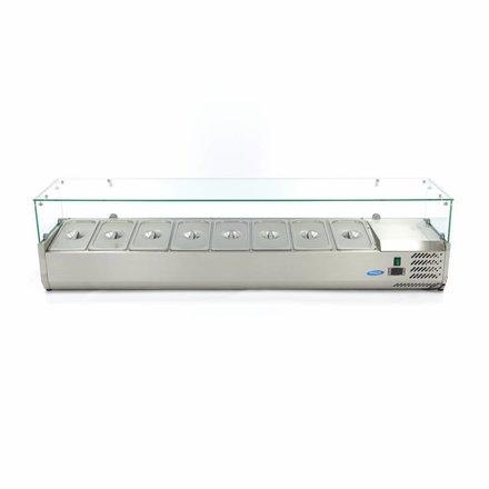 Maxima Aufsatzkühlvitrine - 180 cm - 8 x 1/3 GN - 0 bis 10 °C - 200 Watt