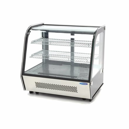 Maxima Kühlvitrine Gebäck - Schwarz - 120 l - 0 bis 12 °C - 180 Watt