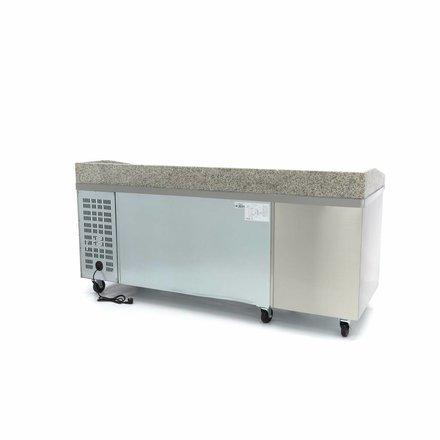 Maxima Pizza Werkstatt / Pizzatisch - 2 Türen - 7 Laden - 202 cm