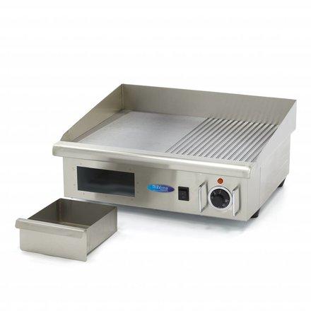 Maxima Gastro Grillplatte - Halb/Halb - 55 cm - mit Spritzschutz - 3000 Watt