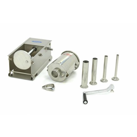 Maxima Sausage Filler 3L - Horizontal - Stainless Steel - 4 Filling Tubes