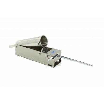 Maxima Sausage Filler 7L - Horizontal - Stainless Steel - 4 Filling Tubes