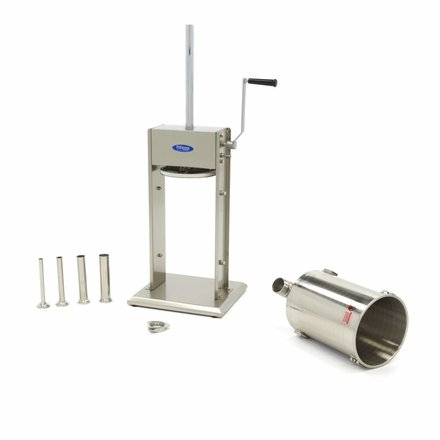 Maxima Sausage Filler 12L - Vertical - Stainless Steel - 4 Filling Tubes