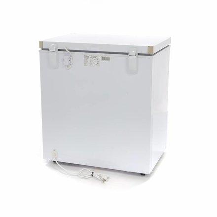 Maxima Gastro Gefriertruhe Digital - 140 l - -24 bis -14 °C - mit 2 Rollen und 2 Füßen - 43 Watt
