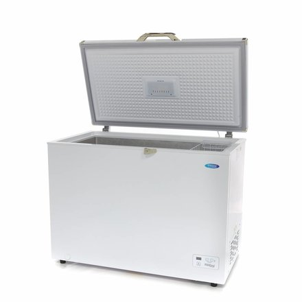 Maxima Gastro Gefriertruhe Digital - 282 l - -24 bis -14 °C - mit 2 Rollen und 2 Füßen - 66 Watt