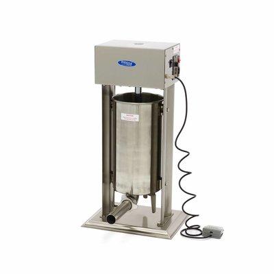 Maxima Automatique Remplissage de Saucisse 15L - Vertical - Inox - 4 Tubes de Remplissage