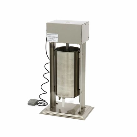 Maxima Automatic Sausage Filler 15L - Vertical - Stainless Steel - 4 Filling Tubes