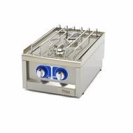 Maxima Grado comercial Cocina - 2 quemadores - Gas - 40 x 60 cm