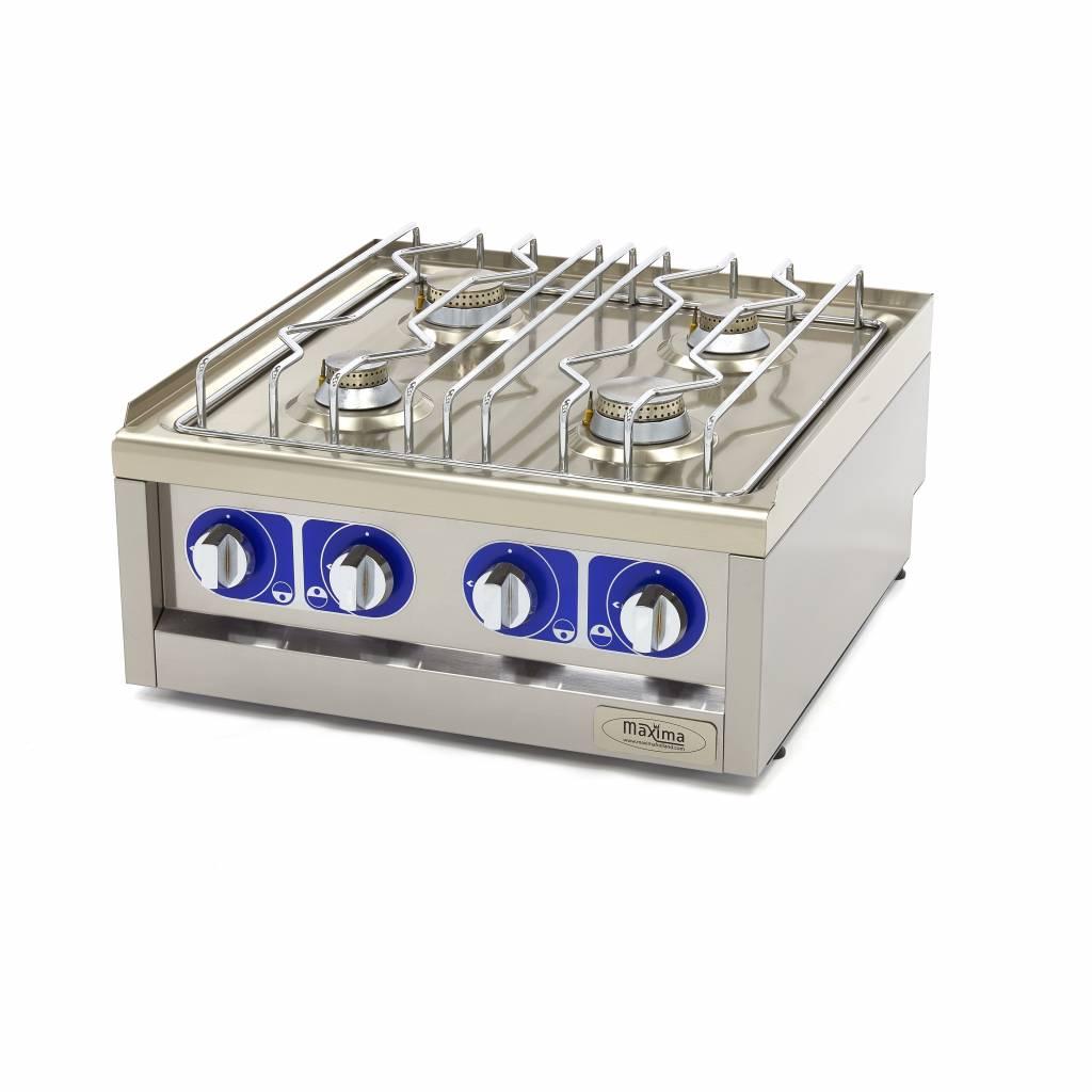 Maxima Commercial Grade Cooker 4 Burners Gas 60 X Cm