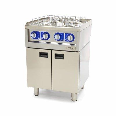 Maxima Commercial Grade Cooker - 4 Burners - Gas - 60 x 60 cm
