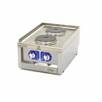 Maxima Commercial Grade Cooker - 2 Burners - Electric - 40 x 60 cm