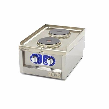 Maxima Commercial Grade Cooker - 2 Burners - Electric - 40 x 60 cm