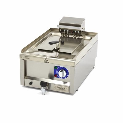 Maxima Commercial Grade Fryer 1 x 10L - Electric - 40 x 60 cm with Faucet