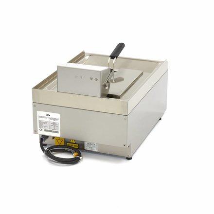 Maxima Commercial Klasse Gastro Fritteuse - Elektrisch - 1 x 10 l Öl - 400 x 600 mm tief - mit Kaltzone und Ablasshahn - 6000 Watt
