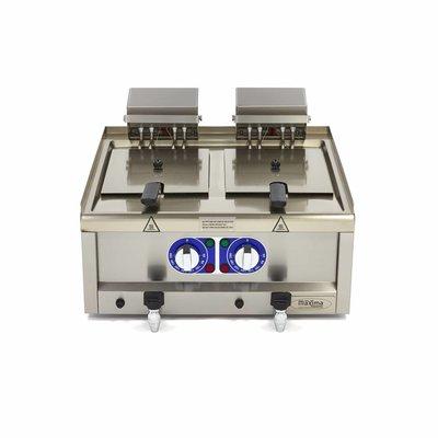 Maxima Professionele Horeca Friteuse 2 x 10L - Elektrisch - 60 x 60 cm met Tapkraan