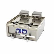 Maxima Commercial Grade Fryer 2 x 10L - elettrici - 60 x 60 cm con rubinetto