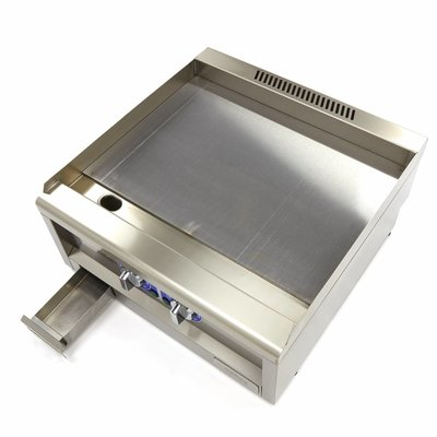 Maxima Commercial Grade Grillplatte Glatt - Elektrisch - 60 x 60 cm