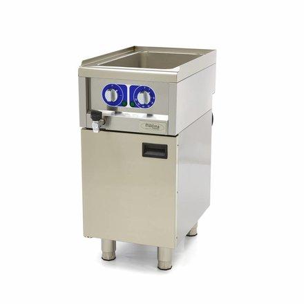 Maxima Bain-Marie - 1 x 1/1 GN - 400 x 600 mm tief - bis 90 °C - mit Ablasshahn - 1500 Watt