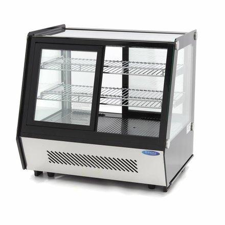 Maxima Kühlvitrine Gebäck - Schwarz - 125 l - 0 bis 12 °C - 160 Watt