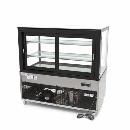 Maxima Kühlvitrine - 400 l - 2 bis 8 °C - mit 4 Rollen - 480 Watt