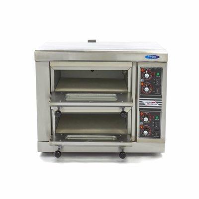 Maxima Pizza-Ofen 1 x 40 cm Doppelt 400V