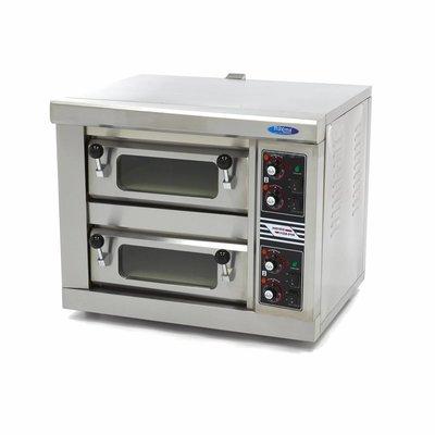 Maxima Pizza-Ofen 1 x 40 cm Doppelt 230V